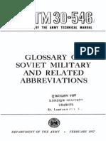 Sovmil Glossary
