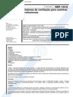 NBR 14518 - Sistema de Ventilacao Para Cozinhas Industriais[1]