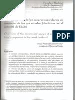 Fredy a. Herrera O. Deberes Secundarios de Conducta de La S. Fiduciaria en El Contrato de Fiducia. 2011