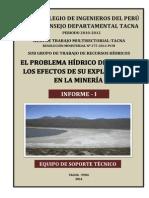 El Problema Hidrico de Tacna y Los Efectos de Su Explotacion en La Mineria