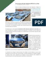 La Ciudad de Bogotá Incorpora 45 Taxis Eléctricos BYD e6 a Su Flota