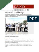 20-04-2014 Milenio.com - Impulsan oportunidades de desarrollo en Hidalgo.