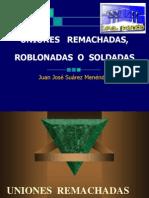 Uniones Remachadas Roblonadas Soldadas