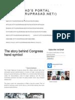 The Story Behind Congress Hand Symbol _ Guruprasad's Portal