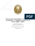 Desarrollo sostenible, inclusión y crecimiento económico