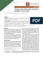 CGasae Lrelpborltadder Perforation Associated With Carcinoma