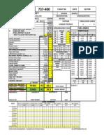 737-400 Auto Load Sheet