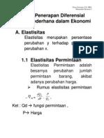 BAB 3.Penerapan Diferensial Fungsi Sederhana Dalam Ekonomi DAN BAB 4