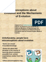 Misconceptions About Evolution and the Mechanisms of Evolution