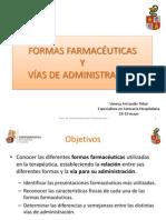 3.- Formas Farmacéuticas y Vías de Administración (1)
