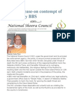 Press Release-On Contempt of Quraan by BBS