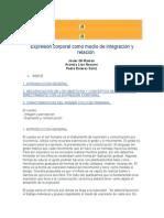 Expresión Corporal Como Medio de Integración y Relación