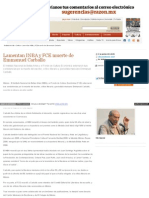 Lamentan INBA y FCE Muerte de Emmanuel Carballo