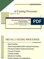 Course Metal Casting Processes