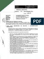 Inscripciones por mandato judicial