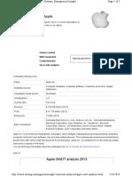 Apple Swot Analysis