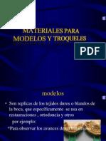 Materiales Para Modelos y Troqueles