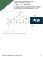 Cara Menghitung Gaya Batang Menggunakan Metode Cremona