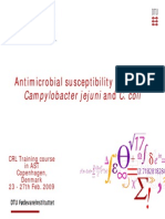 Antimicrobial Susceptibility Testing of Campylobacter