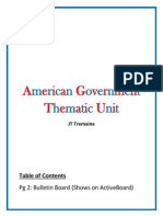 thematic unit - american government