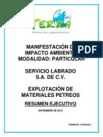 Estudio de Impacto Ambiental Explotacion de Materiales Petreos