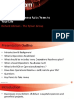 Experience of Operation Readiness