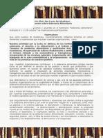 Declaración final del seminario soberanía alimentaria cerro alux 1 y 2 octubre