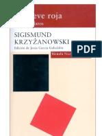 Sigismund Krzyzanowski. La nieve roja
