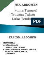 Trauma Abdomen Dan Thorax Dr. Yuzar