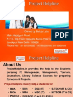 AMITY BSC IT Synopsis and Projects Presentation