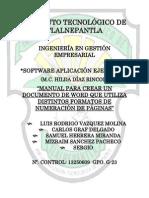 Manual Para Dar Formato a La Numeracion en Word