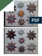 Origami -  Estrellas de Ocho Picos