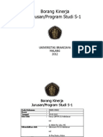 Borang Kinerja Jurusan S-1 PS S1 Kebidanan (Standar 7)