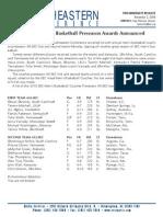 2010 Basketball Preseason Release