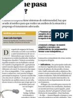 ¿Qué me pasa doctor?.Medicina para empresas.Juan Luis Garrigós.