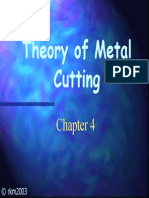 Theory of Metal Cutting - Production Enigneering