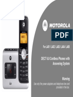 Motorola Cordless Phone -UserGuide-EnGLISH