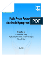 Public Private Initiatives in Hydropower Projects in Nepal-Opportunities and Challanges