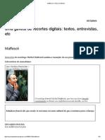 Maffesoli _ Ciência Da Abelha