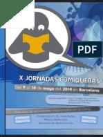Programación X Jornadas Comiqueras BCN (ESP)