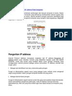 Memahami Pengertian IP Address Pada Komputer