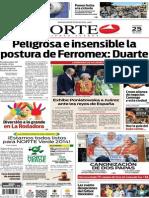 Periódico Norte de Ciudad Juárez edición impresa del 25 abril del 2014