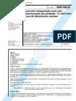 NBR NM 05 - Concreto Compactado Com Rolo _ Determinação Da Umidade in Situ Com o Uso Do Densímetro Nuclear