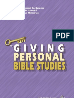Giving Personal Bible Studies