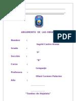 ARGUMENTOS DE LA OBRA