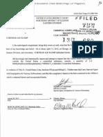 Slomp's affidavit