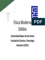 Fisica Moderna - Sólidos