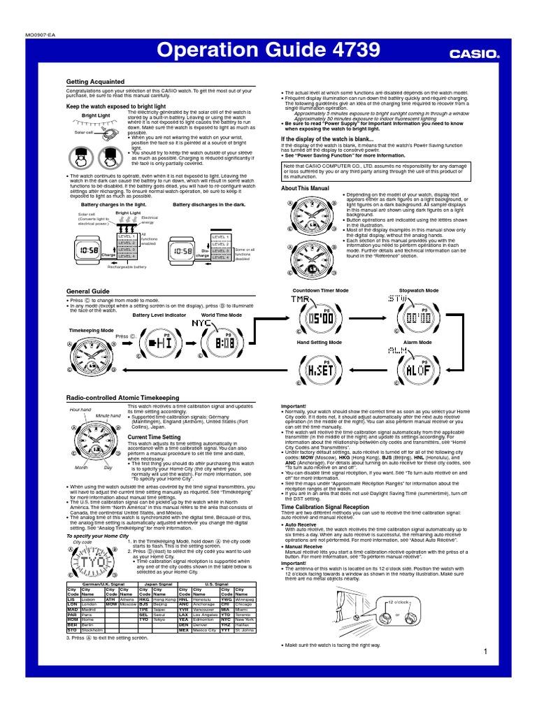 casio wave ceptor 4739 manual