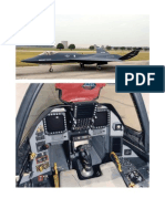 YF-23 cockpit and side-view of inboard layout