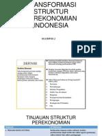 Transformasi Struktur Perekonomian Indonesia